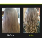 Kelsey - I ordered Pro Extensions in #8 and dyed the roots a 6 and feathered it into the 8 to make a subtle ombre.