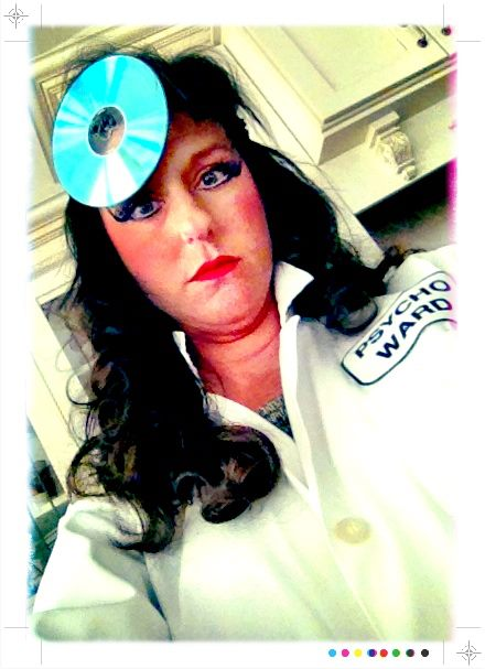 Angela as the crazy Dr. from the Psycho Ward