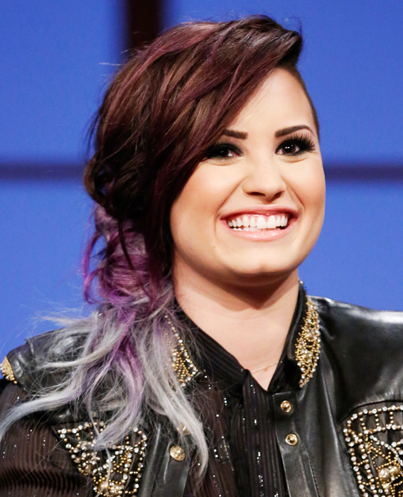 Demi Lovato's wild hair colors, via InStyle