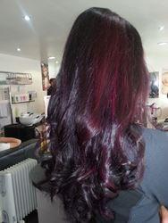 Burgundy Plum Hair Color With A Dark Base We mean dark, plum-colored